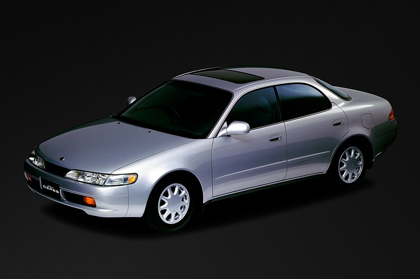 Toyota launched the Corolla Ceres as a stylish four-door hard top for the seventh-generation.