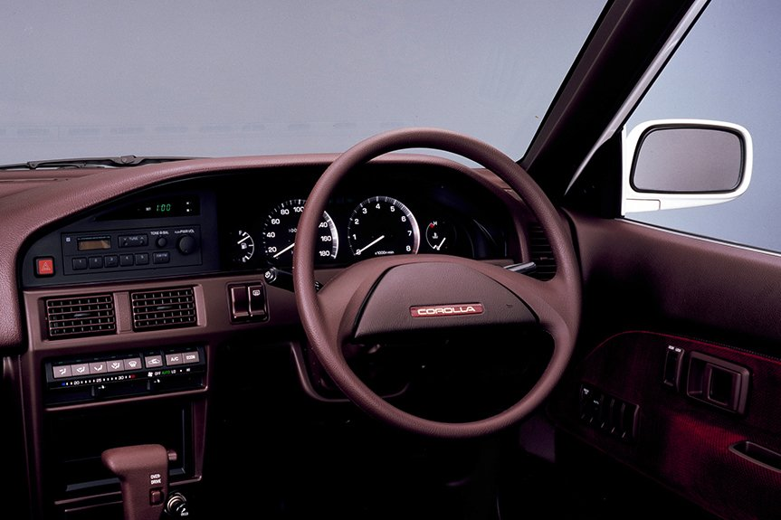 The door windows and mirrors with water-repellant finishing, and the safety pad in the dashboard that successive generation models also kept