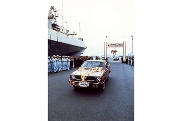 Celebration of the 5 million Corolla exports in 1976