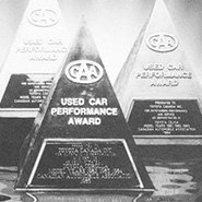 "COROLLA WINS ""CAA USED CAR PERFORMANCE AWARD"""