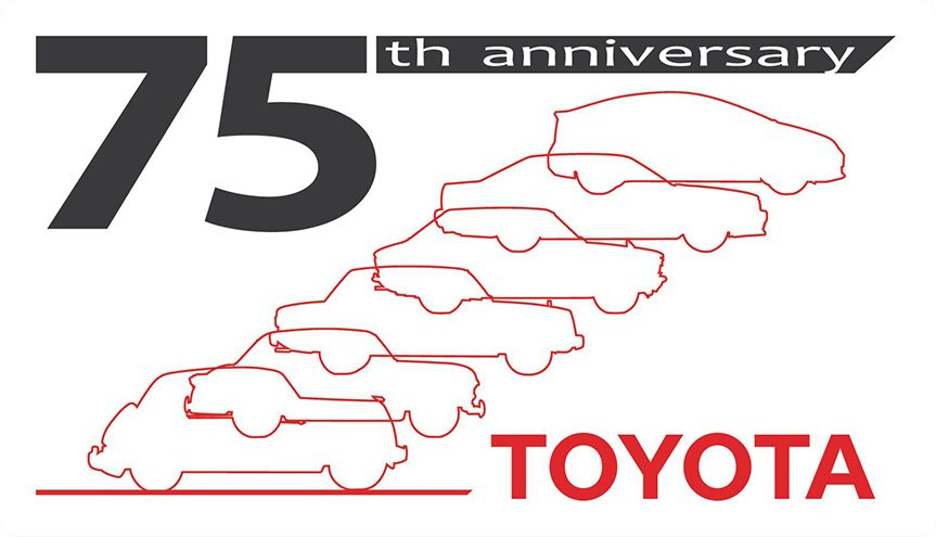 75th anniversary TOYOTA