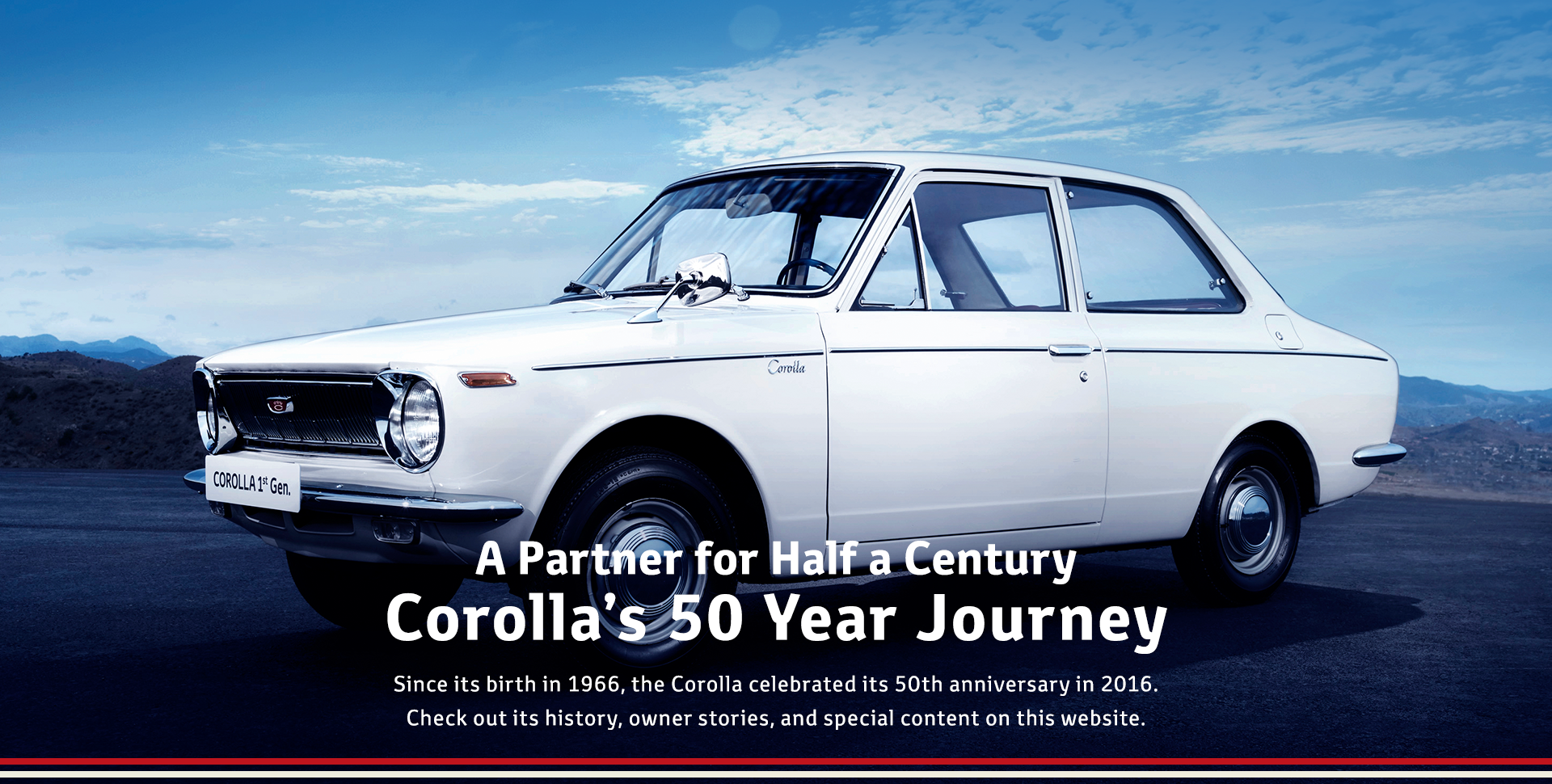 A Partner for Half a Century: Corolla's 50 Year Journey