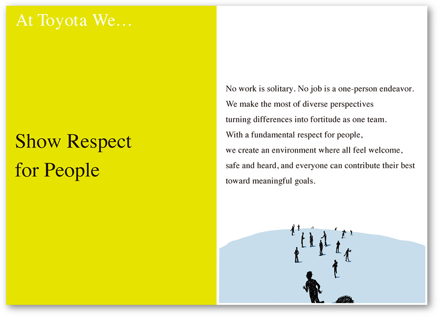 At Toyota We Show Respect for People