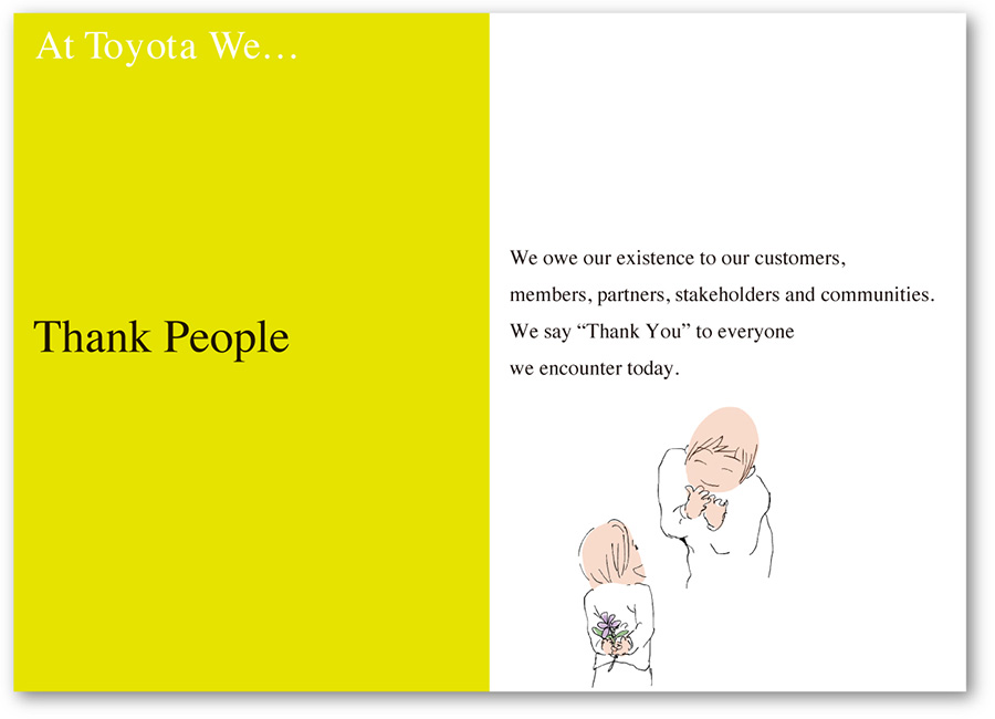 At Toyota We Thank People