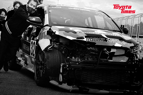 GR Yaris Crash Unites ROOKIE Racing Team