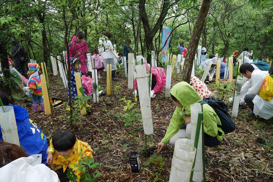 Example of activity: Tree-planting at the Aichi Earth Expo Memorial Park