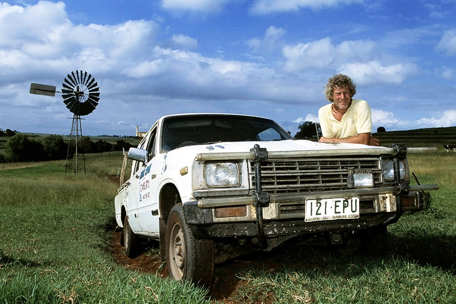 Jack Morris and his 1983-model HiLux 4x2 petrol Double Cab