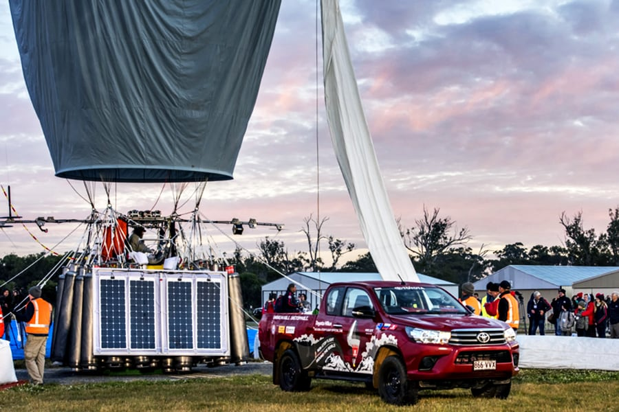 Toyota Hilux Supports Around-the-World Balloon Bid