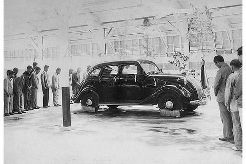 Completion ceremony of the Toyoda Model A1 passenger car prototype (1935)