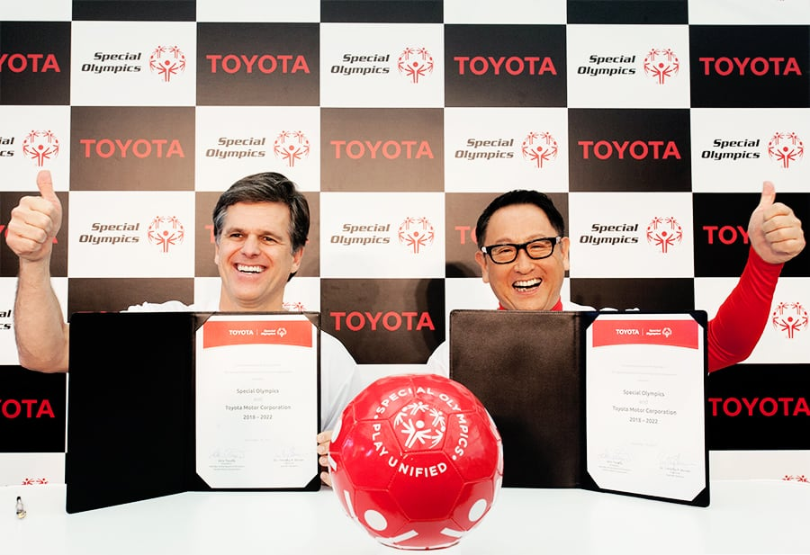 Toyota signing worldwide partnership with Special Olympics