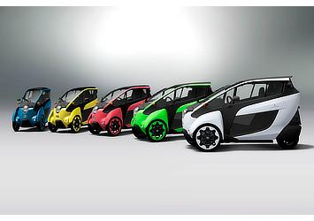 Toyota i-Road color variations