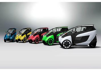 TOYOTA i-ROAD カラーバリエーション