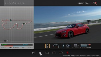 Gran Turismo 6's GPS Visualizer