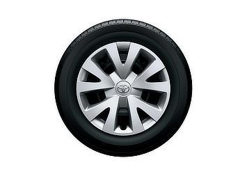 2WD:165/65R14タイヤ&14×5J スチールホイール(樹脂ホイールキャップ)
