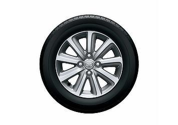 """2WD:165/65R14タイヤ&14×5J アルミホイール(センターオーナメント付)(""""+Hana""""series専用デザイン)"""