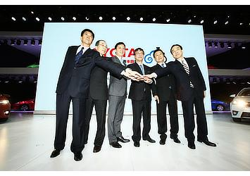 Representatives from Toyota, its affiliates, and their joint venture partners