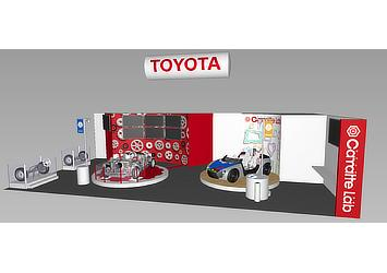 Toyota's booth at the International Tokyo Toy Show