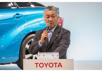 Yasuhiko Sato, TMC managing officer (FCV presentation)