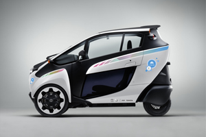 Toyota i-ROAD with Citélib by Ha:mo logo