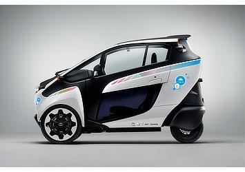 Toyota i-ROAD with Citélib by Ha:mo logo