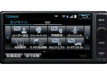 トヨタ純正ナビゲーション T-Connectナビ (NSZN-W64T) (画面) (販売店装着オプション)
