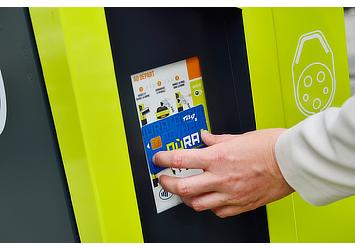 """Charging station for """"Cité lib by Ha:mo"""" EV sharing trial in Grenoble, France"""