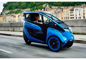 "Toyota i-ROAD for use in ""Cité lib by Ha:mo"" EV sharing trial in Grenoble, France"