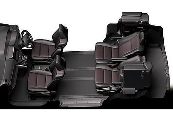 Seat arrangement (super relax mode; 7-seater)