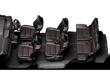 Seat arrangement (free access mode; 7-seater)
