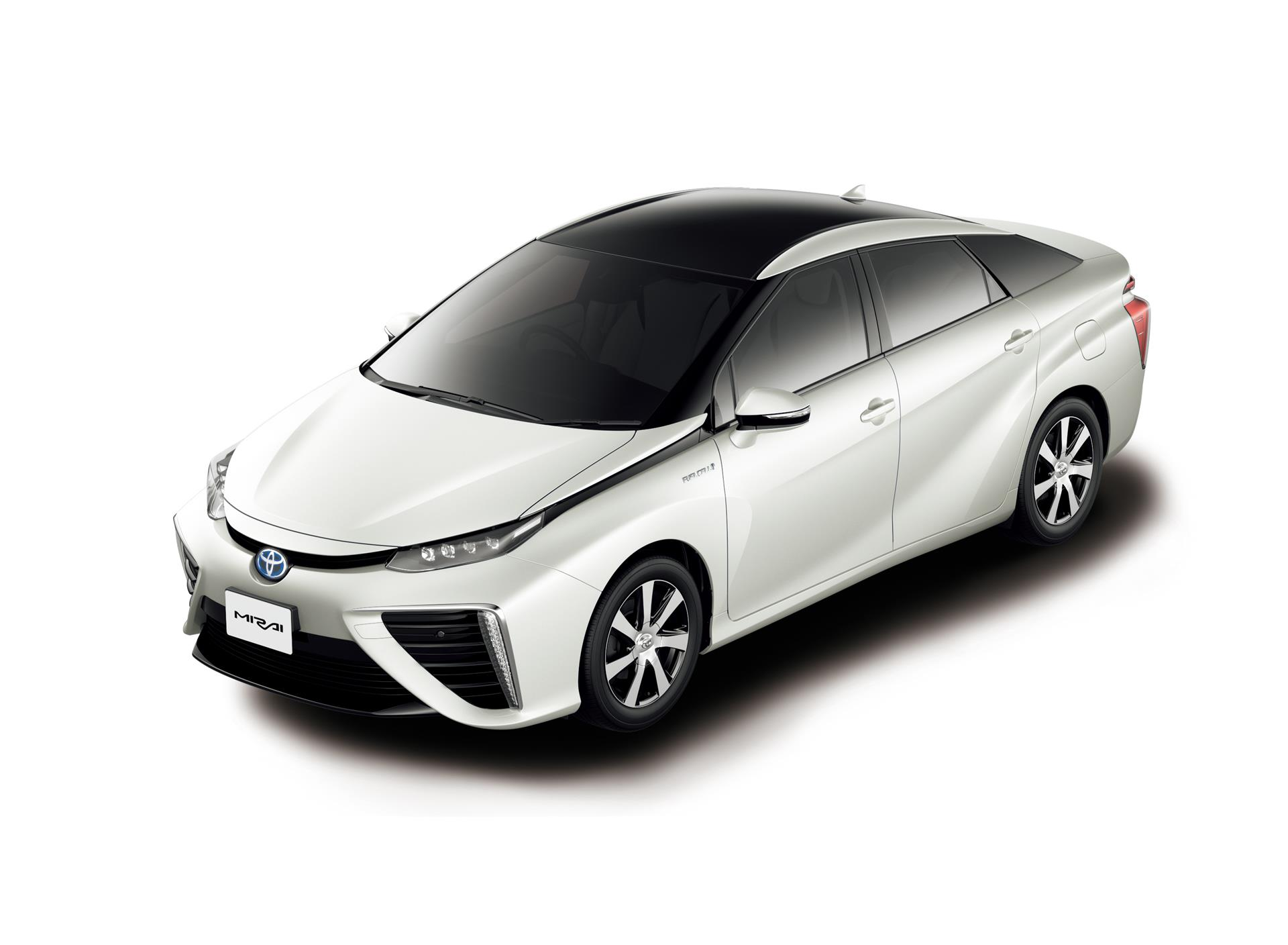 Toyota Mirai Fuel Cell Sedan White Pearl Crystal Shine Two Tone
