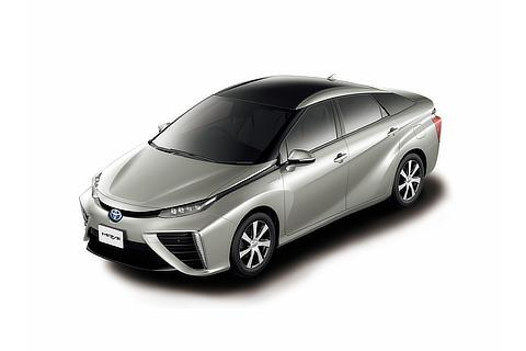 Toyota Mirai fuel cell sedan (Precious Silver two-tone)