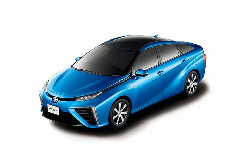Toyota Mirai fuel cell sedan (Pure Blue Metallic two-tone)