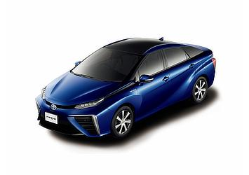 Toyota Mirai fuel cell sedan (Dark Blue Mica two-tone)