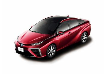 Toyota Mirai fuel cell sedan (Red Mica Metallic two-tone)