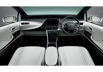 Toyota Mirai fuel cell sedan interior (Warm White)