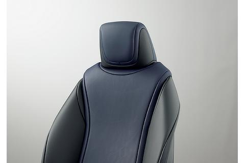 Toyota Mirai fuel cell sedan seat (Blue White)