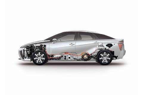 Toyota Mirai fuel cell sedan powertrain