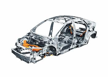 Toyota Mirai fuel cell sedan frame