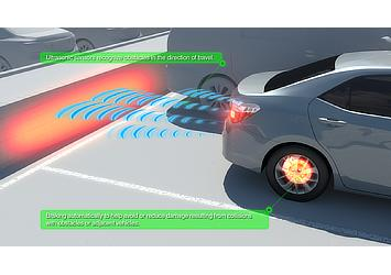 Toyota's enhanced Intelligent Clearance Sonar (ICS)