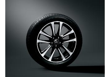 235/50R 19タイヤ (ブリヂストン DUELER H/P SPORT)×8J G's専用アルミホイール (ブラック塗装+切削光輝)