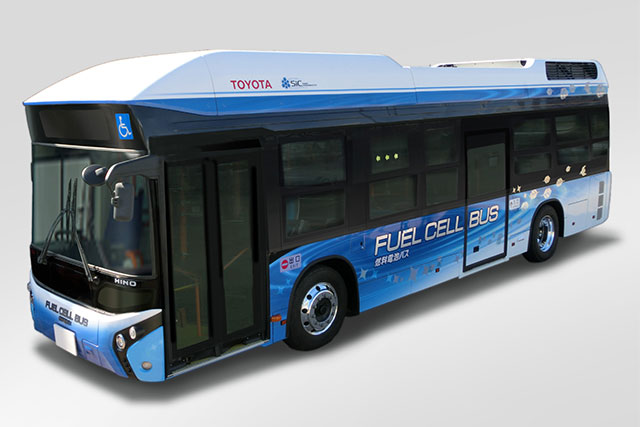 New Toyota Hino Fuel Cell Bus