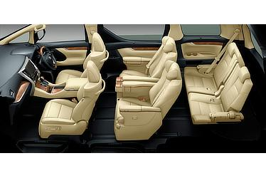 "Toyota Alphard and Vellfire 30 Series Alphard ""Executive Lounge"" model (hybrid; flaxen interior)"
