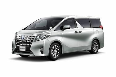 "Toyota Alphard and Vellfire 30 Series Alphard G ""F Package"" (hybrid; silver metallic)"