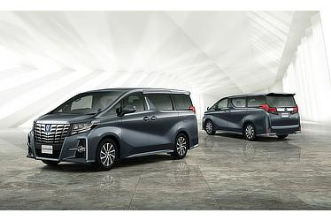 "Toyota Alphard and Vellfire 30 Series Alphard SR ""C Package"" (hybrid; grey metallic)"