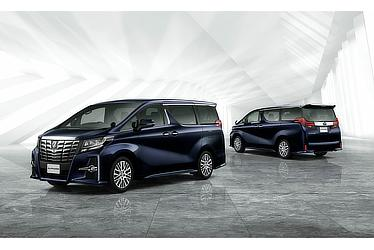 "Toyota Alphard and Vellfire 30 Series Alphard S ""C Package"" (2WD; sparkling black pearl crystal shine; options shown)"