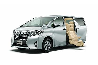 Toyota Alphard and Vellfire 30 Series Alphard X with side lift-up seat (2WD; silver metallic)