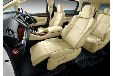 Alphard driver-side eight-way power adjustable seat and passenger-side four-way power adjustable seat