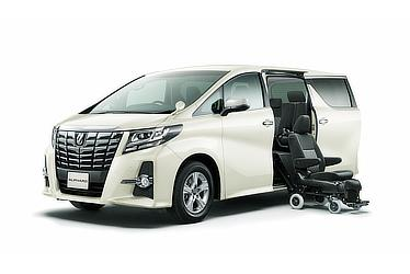 Toyota Alphard and Vellfire 30 Series Alphard S Welcab side lift-up seat model (2WD; options shown)