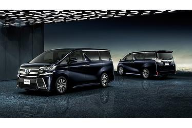 "Toyota Alphard and Vellfire 30 Series Vellfire ZR ""G Edition"" (hybrid; sparkling black pearl crystal shine; options shown)"