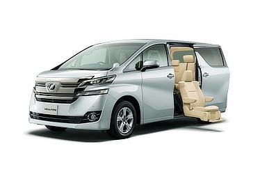 Vellfire X with side lift-up seat (2WD; silver metallic)